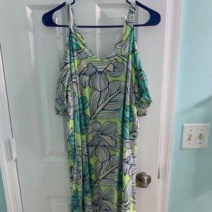 All For Color cold shoulder dress